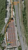 Boxerna - mapa areálu, Křížová 6, budova F