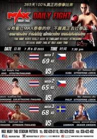 Naše zápasy na MAX MUAY THAI, Thajsko